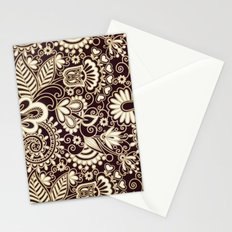VINTAGE VECTOR FLOWERS 1 - for iphone Stationery Cards