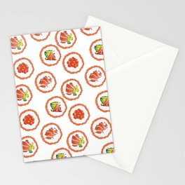 Tasty sushi Stationery Cards