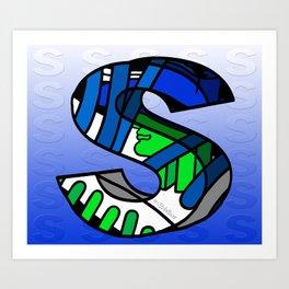 S FOR SENHOR Art Print