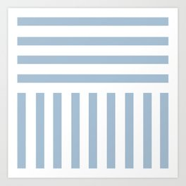 Powder Blue Direct Stripe Art Print