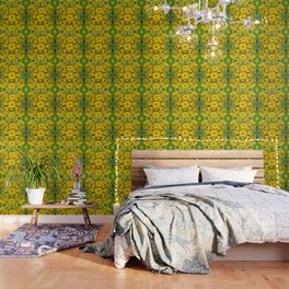YELLOW COREOPSIS FLOWERS GREEN GARDEN Wallpaper