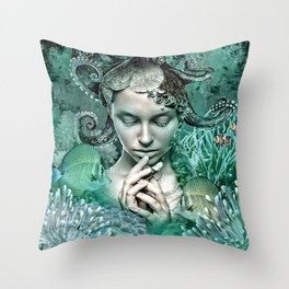 Her love is secure like currents that hold tight Throw Pillow