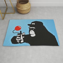 Kendama monkey Rug