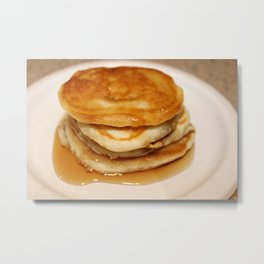 Pancakes with Syrup Metal Print