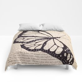 Butterfly in a Book Comforters
