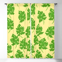 Monstera Leaf Pattern - Version Three Blackout Curtain