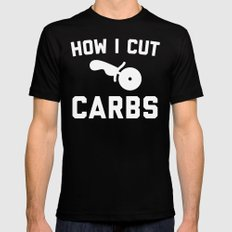 Cut Carbs Funny Quote MEDIUM Mens Fitted Tee Black