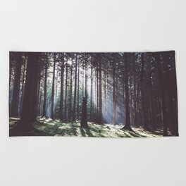 Magic forest - Landscape and Nature Photography Beach Towel