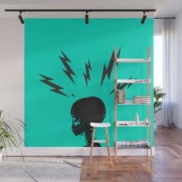 Brain Zaps - Blue Wall Mural