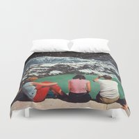 beth hoeckel Duvet Covers featuring GLACIAL by Beth Hoeckel