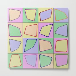 Retro Pastel Mix Metal Print