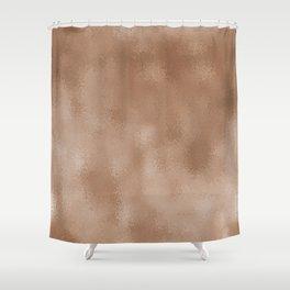 Mottled Champagne Antique Foil Shower Curtain