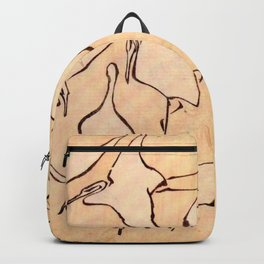 """Katsushika Hokusai """"Cranes from Quick Lessons in Simplified Drawing"""" (1823)(original) Backpack"""