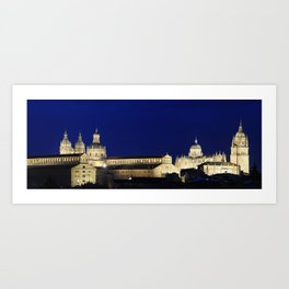 Salamanca city, Spain. Art Print