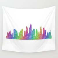 chicago Wall Tapestries featuring Chicago by David Zydd - Colorful Mandalas & Abstrac