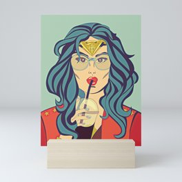 Superhero Coffee Break Mini Art Print
