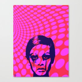 Iconic Twiggy Canvas Print