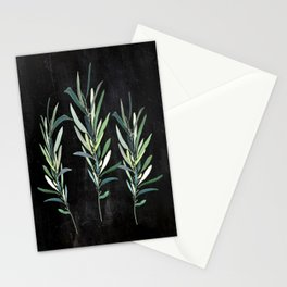 Eucalyptus Branches On Chalkboard Stationery Cards