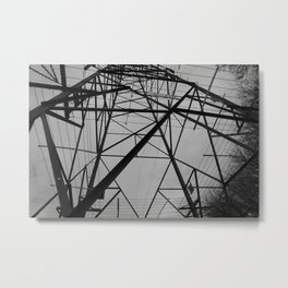 electricity pylon Metal Print