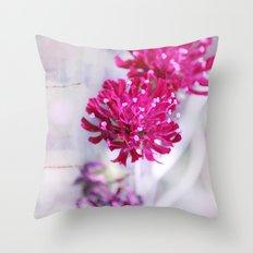 pink beauties Throw Pillow