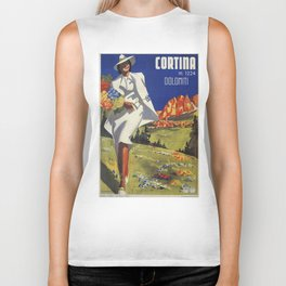 Vintage Italian Alps Cortina summer travel Biker Tank