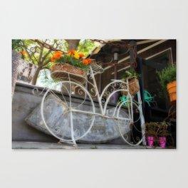 Bike garden Canvas Print