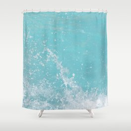Fifty Shades of Blue Ocean Wave in Crete Island, Greece   Travel Photography   Landscape Photography Shower Curtain