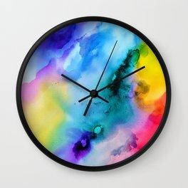 Prismatic Radiance Wall Clock