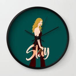 Slay Buffy! Wall Clock