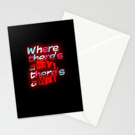 Where There's a Way Stationery Cards