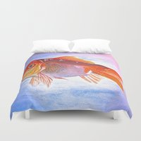 goldfish Duvet Covers featuring Goldfish by Jaime Viens