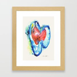 Brain Hearts Framed Art Print