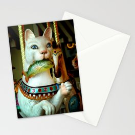 Kitty With Fish Stationery Cards