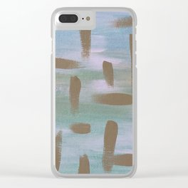 Brush Strokes in The Sky Clear iPhone Case