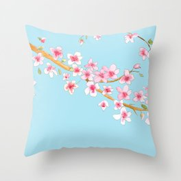 Cherry Blossom II Throw Pillow