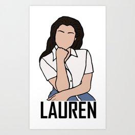 Lauren Jauregui Art Print
