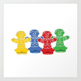 Candy Board Game Figures Art Print