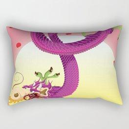 Far East Dragon print Rectangular Pillow