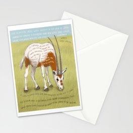 Scimitar Oryx Stationery Cards