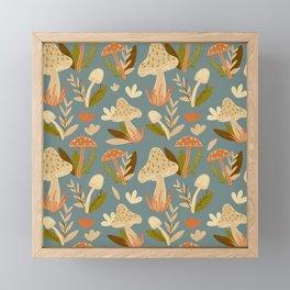 Mushroom Forest in Retro  Framed Mini Art Print