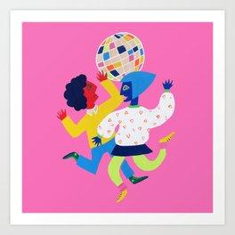 Neon Disco Art Print
