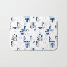 Robot Girl Cubism Bath Mat