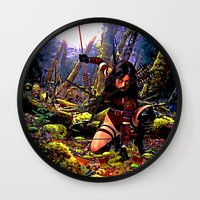 archer Wall Clocks featuring The Archer by OverseerN
