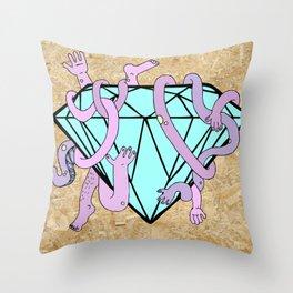 DIAMOND HANDS Throw Pillow