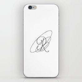 R Typeography iPhone Skin