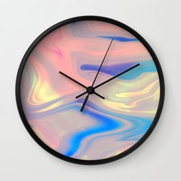 Holographic Dreams Wall Clock