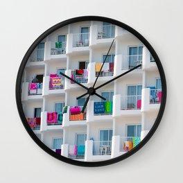 summer balcony Wall Clock