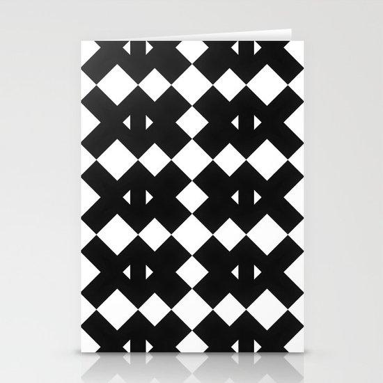 Branting Black & White Pattern Stationery Cards