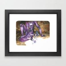 Moonbot #5: Violet Framed Art Print