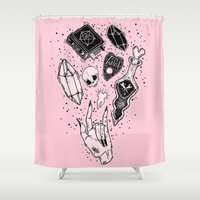 witchcraft Shower Curtains featuring Witchcraft by lOll3